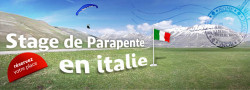 Stage parapente  Castelluccio (Italie) en septembre 2013
